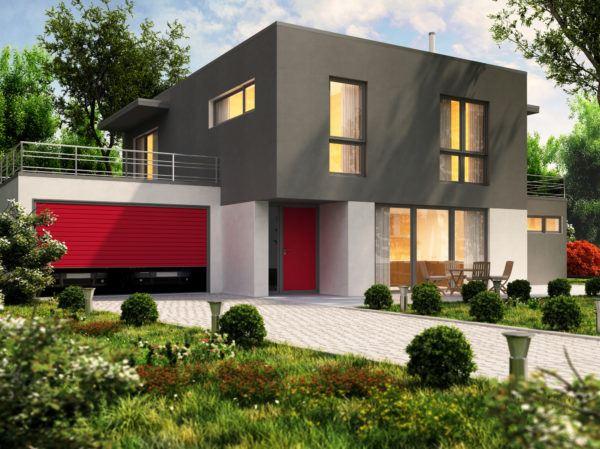 Ideas de fachadas de casas modernas fotos e ideas bonitas gris roja