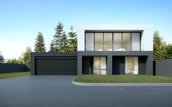 Ideas de fachadas de casas sencillas fotos e ideas bonitas casa gris blanco