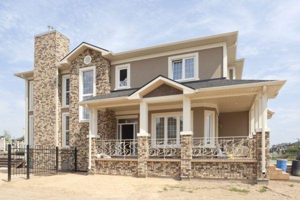 Ideas de fachadas de casas sencillas fotos e ideas bonitas casa marron