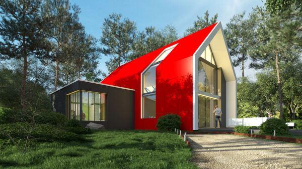 Ideas de fachadas de casas sencillas fotos e ideas bonitas casa roja