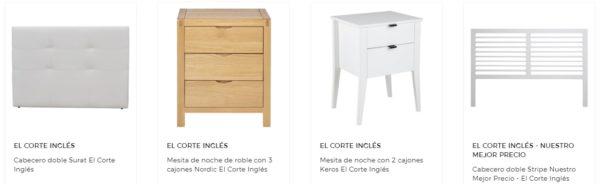 Rebajas el corte ingles verano muebles dormitorio