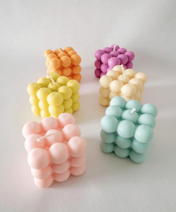 Cómo hacer las velas de cubo de moda en casa