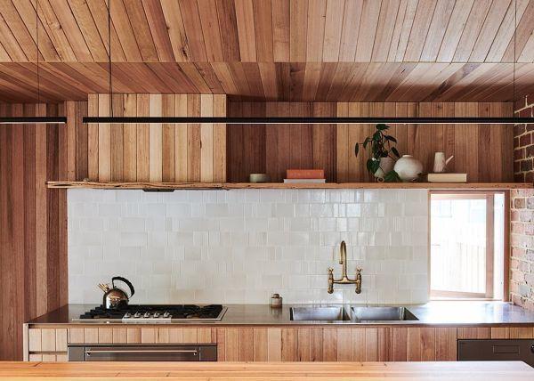 Cocina en madera estilo WABI SABI