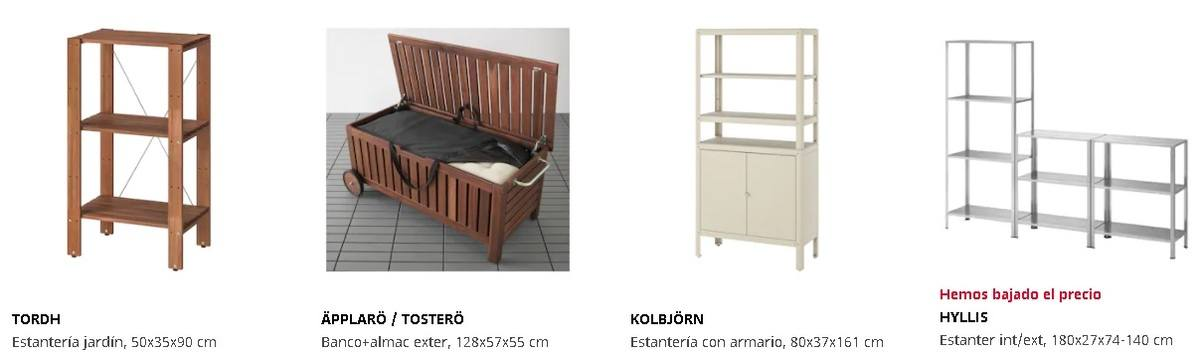 Armarios y estanterías exterior Ikea