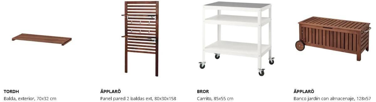 Paneles y estanterías exterior Ikea
