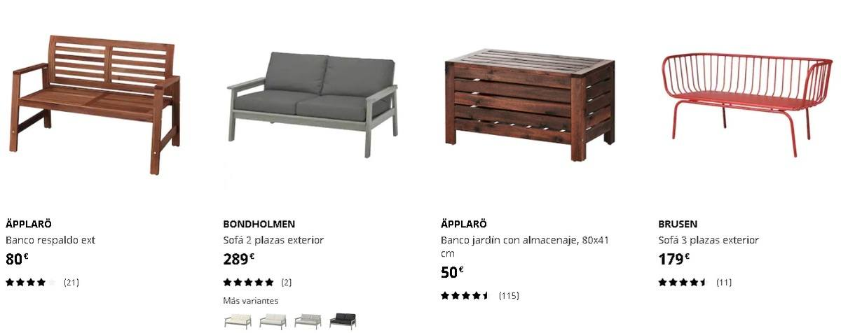 Bancos de exterior Ikea