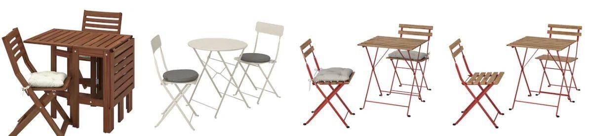 Sillas y mesa exterior Ikea