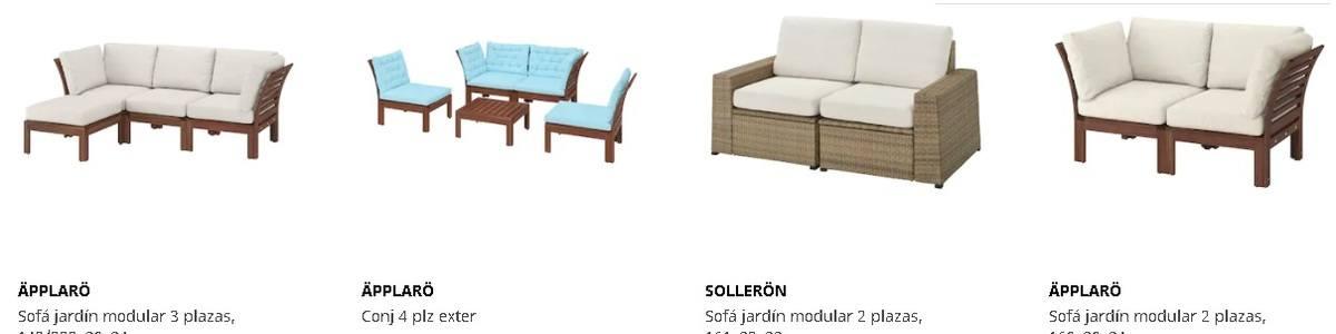 Módulos de sofás para exterior Ikea