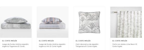 REBAJAS EL CORTE INGLES VERANO 2021 ropa de cama