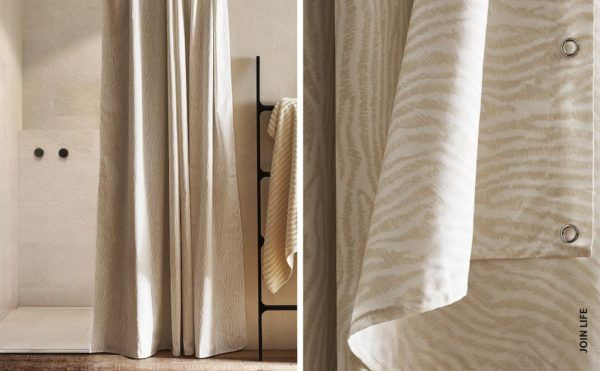 Catalogo ZARA HOME primavera verano 2021 BAÑO cortina animal print