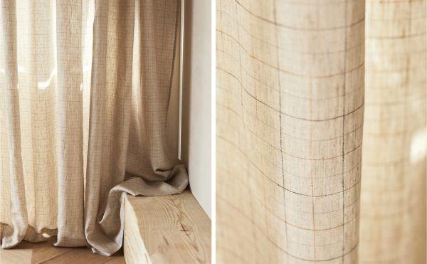 Catalogo ZARA HOME primavera verano 2021 SALON cortina lino
