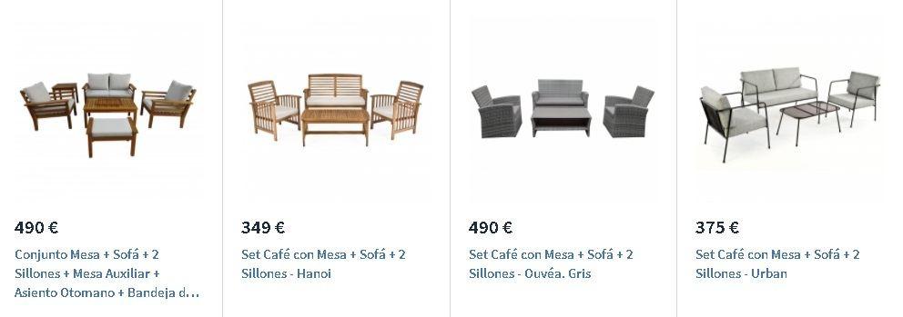 Conjunto muebles exterior Carrefour