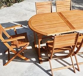 Mesas y sillas Carrefour