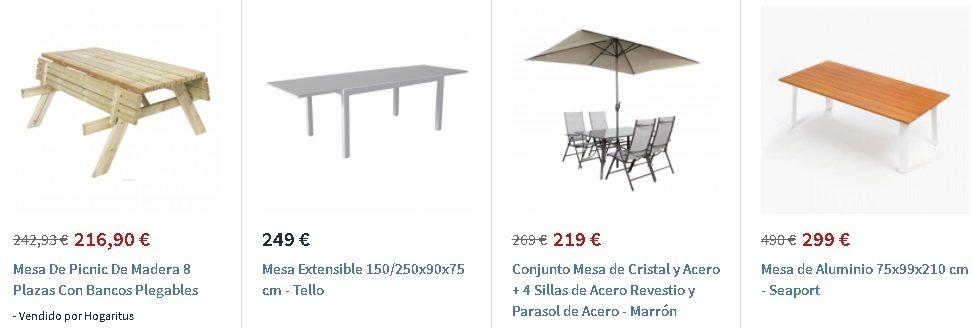 Mesas jardín Carrefour