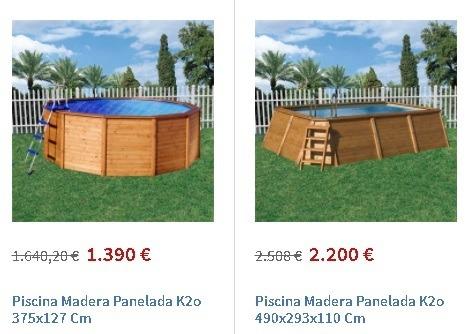 Piscinas de madera Carrefour