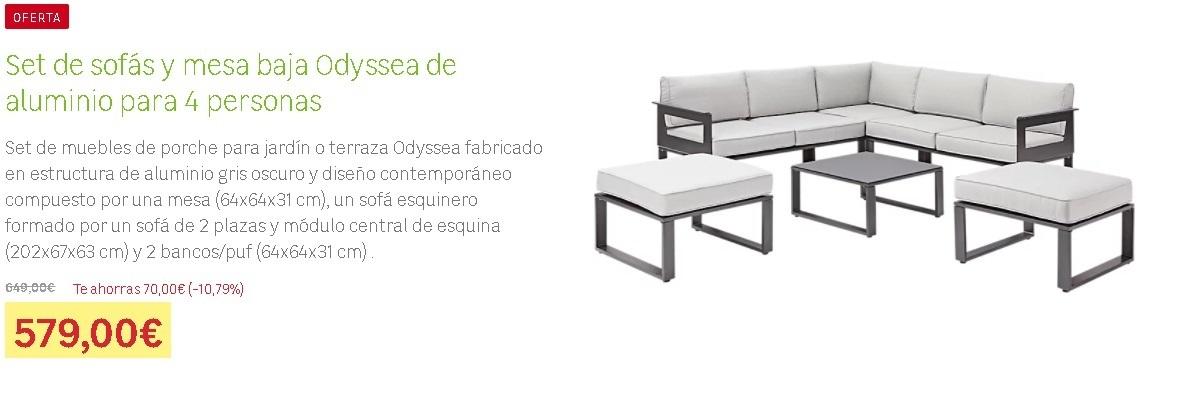 Conjunto sofás y mesas bajas Odyssea Leroy Merlín