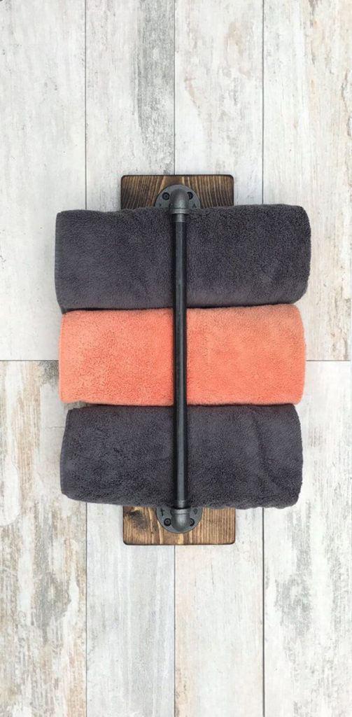 Como colocar las toallas en el bano decoracion barra de soporte