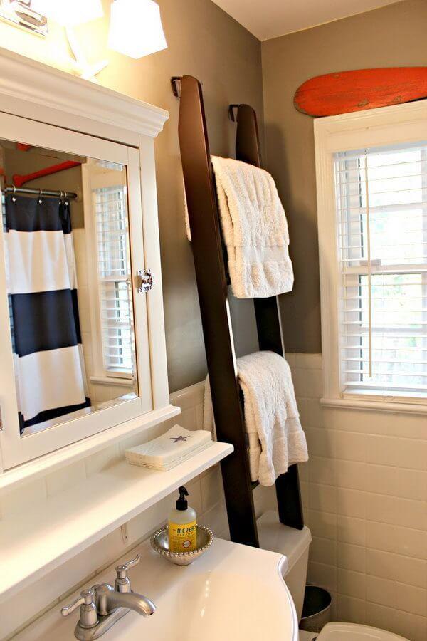 Como colocar las toallas en el bano decoracion en una escalera