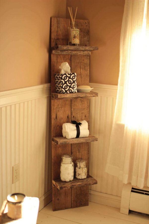 Como colocar las toallas en el bano decoracion en una estanteria rustica