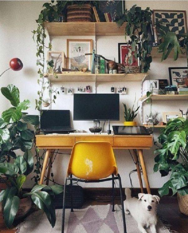 Como decorar tu cuarto estilo aesthetic escritorio plantas