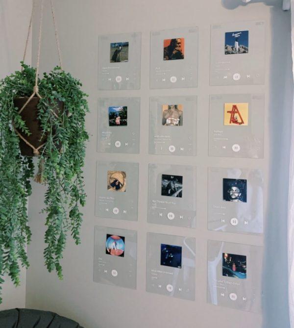 Como decorar tu cuarto estilo aesthetic pared con reproductor