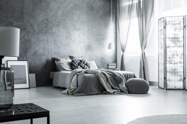 Decoracion dormitorio aesthetic puff negro