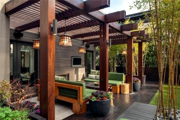 Ideas cerramientos para terrazas baratos madera pergola