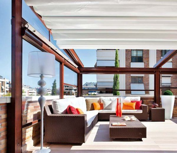Ideas cerramientos para terrazas baratos toldo