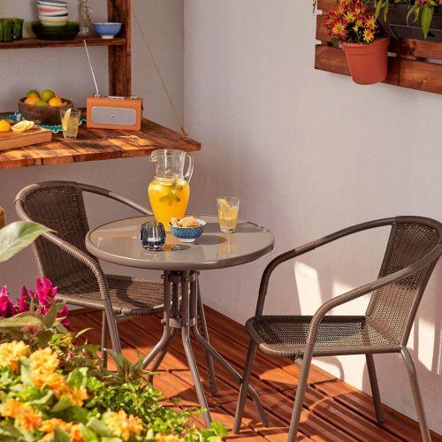 Conjunto mesas y sillas Bari Bricodepot