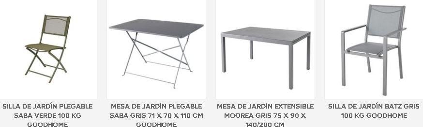 Mesas y sillas Bricodepot Jardín