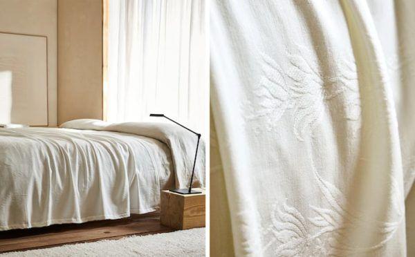 Zara home colchas colcha algodon blanco chenilla