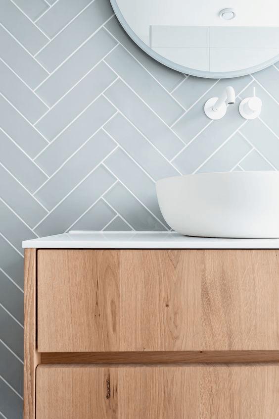Azulejos baño moderno azulejos pared pastel