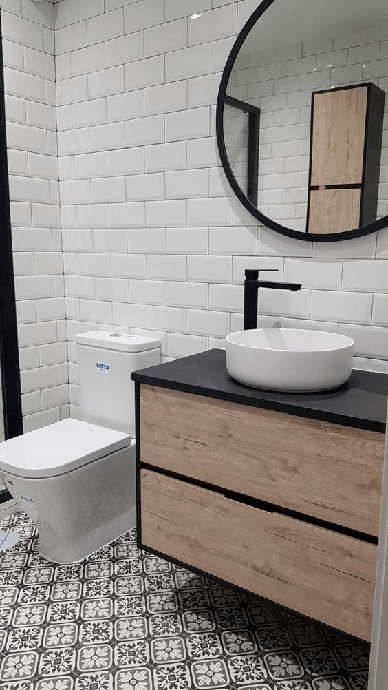 Azulejos baño moderno azulejos suelo hidraulico