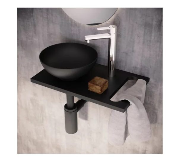 Baños modernos leroy merlin lavabo kit negro