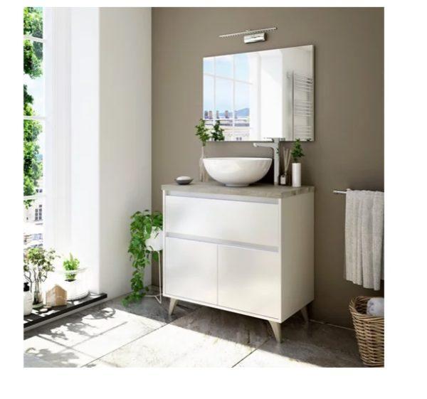 Baños modernos leroy merlin mueble colgante con lavabo espejo