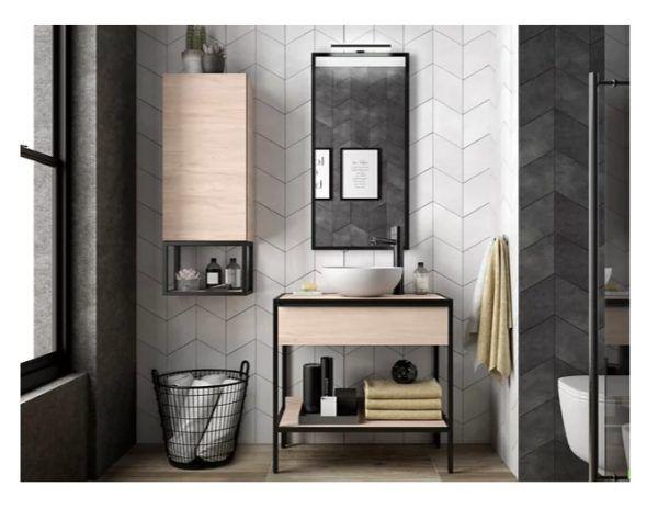 Baños modernos leroy merlin mueble studio roble