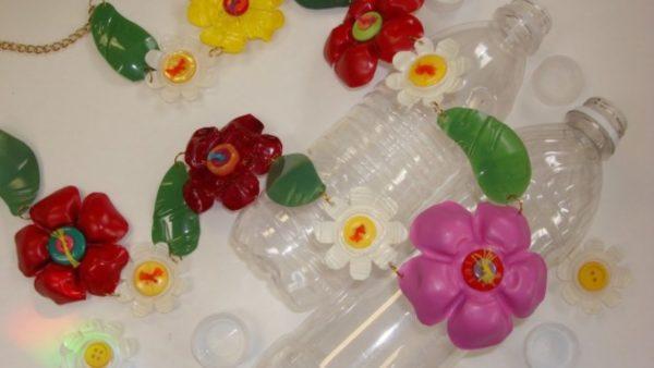 Manualidades dia de la madre con botellas de plastico