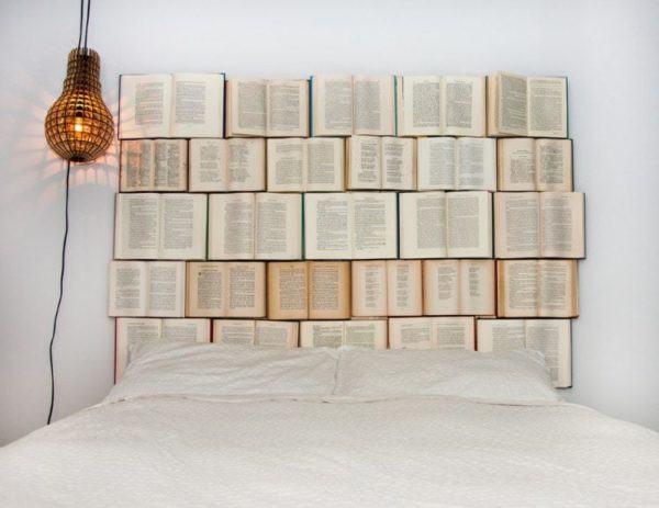 Cabeceros diy baratos cabecero libros abiertos