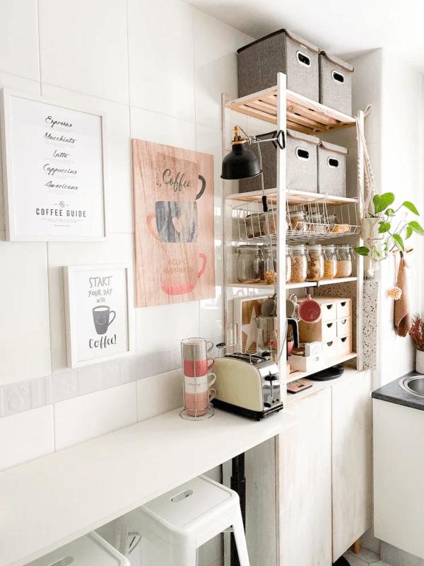 Cómo poner una cocina en un espacio muy pequeño COCINA IKEA estantes