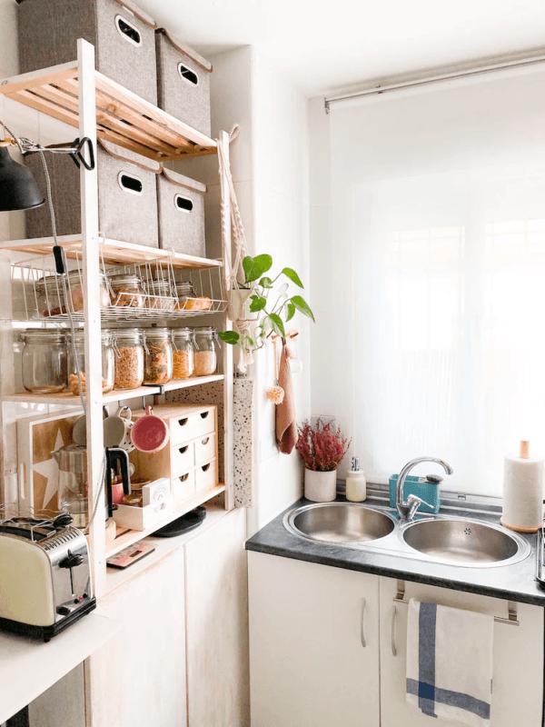 Cómo poner una cocina en un espacio muy pequeño COCINA IKEA