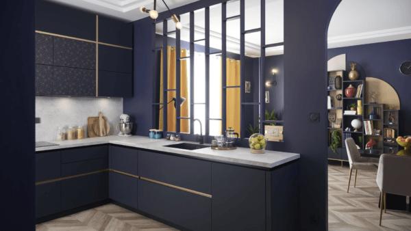 Cuánto cuesta poner una cocina COCINA SCHMIDT azul