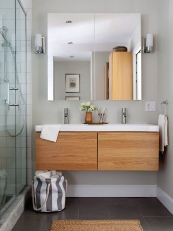 Banos pequenos ideas elementos lavabo suspendido