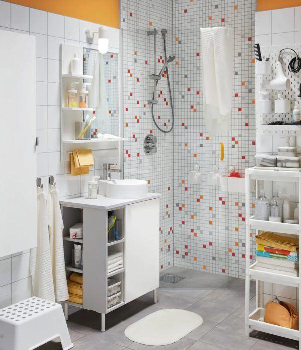 Baños pequeños ikea baldosas ducha