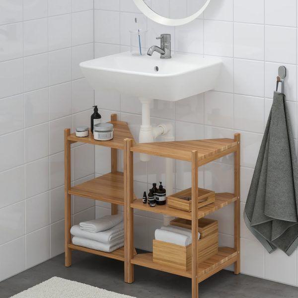 Baños pequeños ikea estanteria ragrund