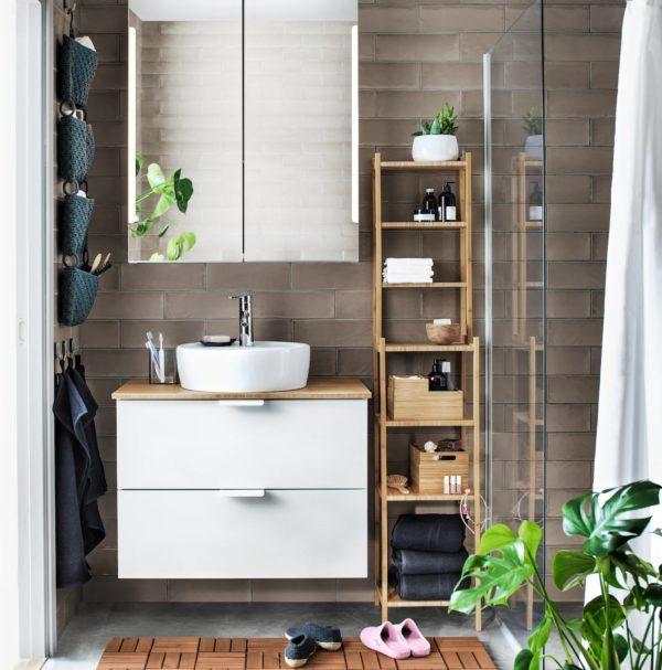 Baños pequeños ikea mueble flotante