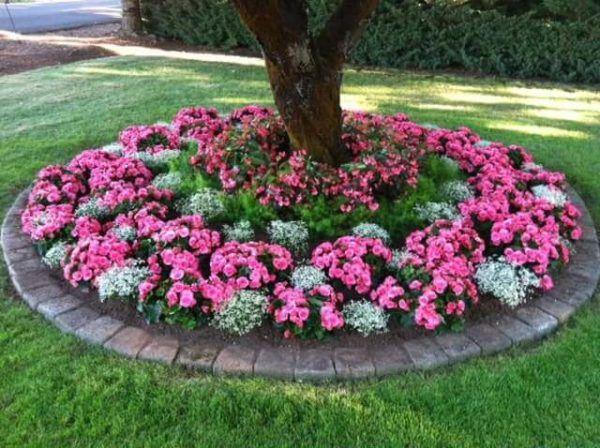 Jardin rustico ideas cama de flores