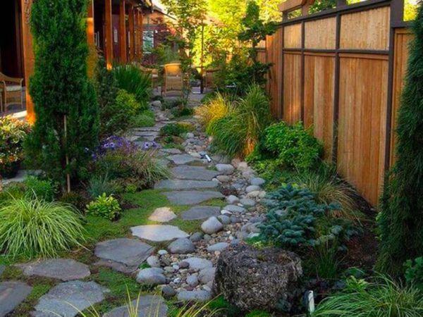 Madera exterior jardines y terrazas suelo piedras