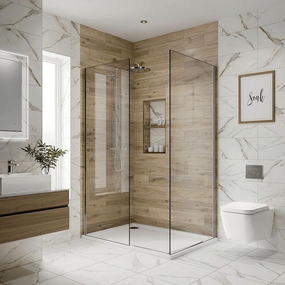 15 banos pequenos con ducha 2021 2022 madera