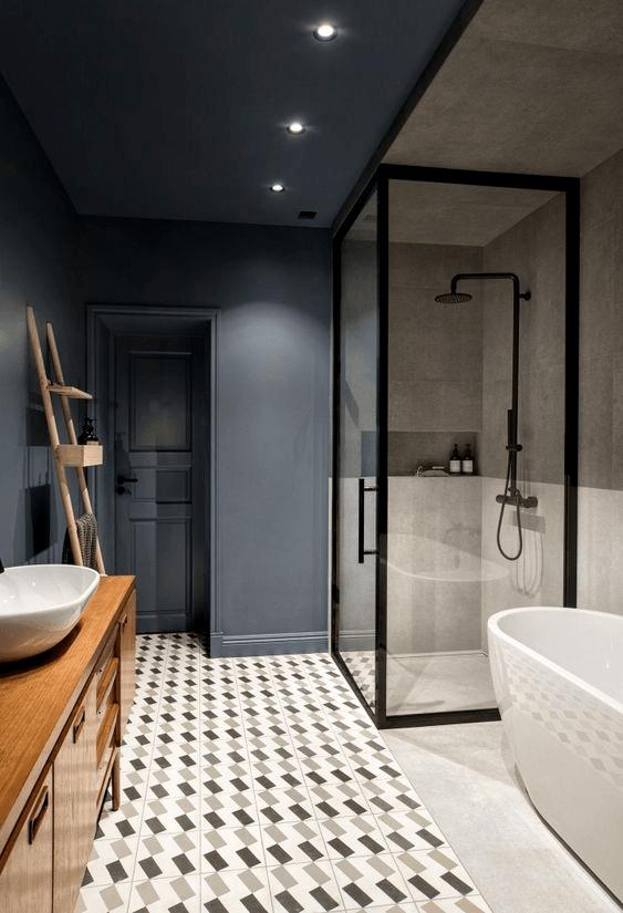 15 banos pequenos con ducha 2021 2022 suelo vintage
