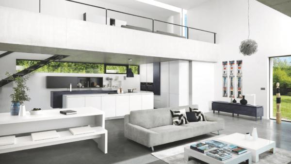 15 cocinas pequenas abiertas al salon 2021 2022 cocina SCHMIDT blanca